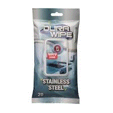 DURAWIPE STAINLESS STEEL WIPES