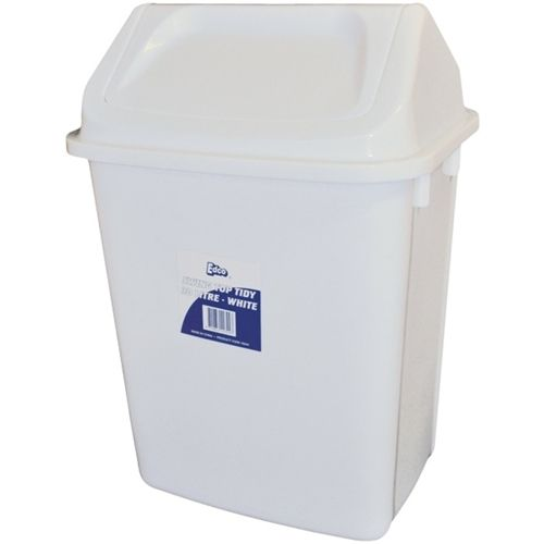 EDCO SWING TOP TIDY 30L - WHITE