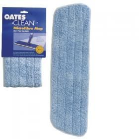 OATES 350MM MICROFIBRE TRIPLE ACTION FLAT MOP REFILL - BLUE - (MF-011 / 165610) ( SUITS EV-011 MOP & MF-023B ) EACH