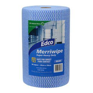 EDCO MERRIWIPE ROLL BLUE - (56100) - 45MTR - ROLL