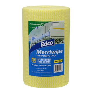 EDCO MERRIWIPE ROLL YELLOW -(56103) -45MTR - ROLL
