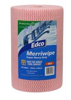 EDCO MERRIWIPE ROLL RED -(56102) -45MTR -ROLL