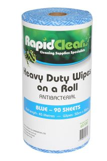 RAPID CLEAN H.D. WIPES ROLL - BLUE - 45MTR -ROLL