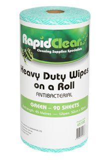 RAPID CLEAN H.D. WIPES ROLL - GREEN - 45MTR -ROLL