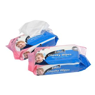 EDCO CHEEKY BABY WIPES UNSCENTED 80 X 10PKTS -CTN