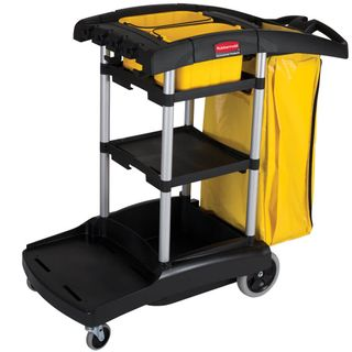 RUBBERMAID HIGH CAPACITY JANITORS CART - 9T72