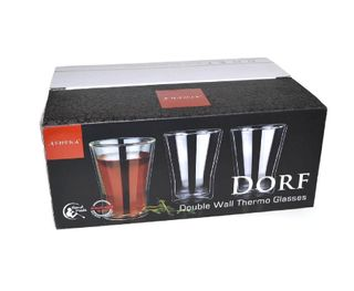 ATHENA DORF 250ML DOUBLE WALL THERMO GLASS - 6 PACK - GDG-03.25/6 - PKT
