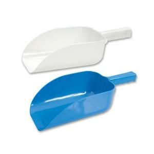 TRENTON ICE SCOOP PLASTIC FLAT BOTTOM WHITE ( 350MM & 1.9L ) - 60038 - EACH