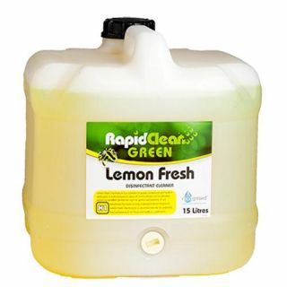 "Rapid Clean "" LEMON FRESH "" Disinfectant - 15L (Recognised Environmental)"