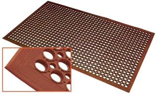 SAFETY CUSHION GREASE MAT TERRACOTTA ( HONEYCOMB DESIGN ) 90 cm X 150 cm - MAT - Each