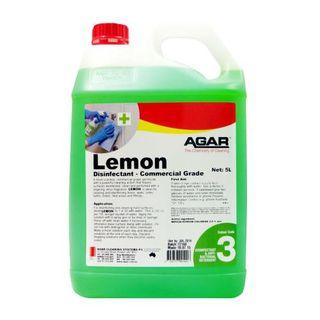 AGAR LEMON DISINFECTANT/DEODORISER/CLEANER 5L