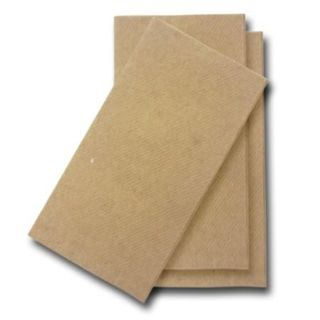 ENVIRO CHOICE LUNCH 2PLY GT FOLD KRAFT NAPKIN - 100 - PKT