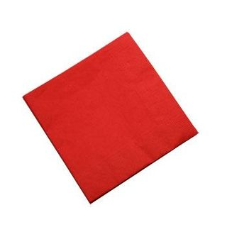 CAPRICE LUNCH 2PLY RED NAPKINS - 100 - PKT
