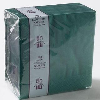 CAPRICE LUNCH 2PLY PINE GREEN NAPKIN - 100 - PKT