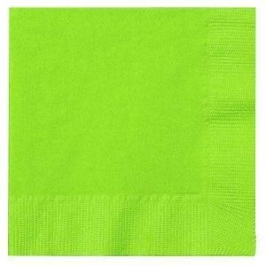 ALPEN LUNCH 2PLY LIME GREEN NAPKIN - 100 - PKT