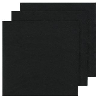 CAPRI LUNCH 2PLY BLACK NAPKINS - 2000 -CTN