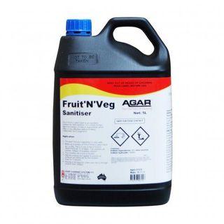 AGAR FRUIT 'N' VEG (FOOD WASH) SANITISER 5L