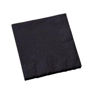 CAPRICE DINNER 2PLY BLACK NAPKIN 1/4 FOLD - 100 -PKT