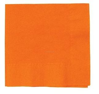 CAPRICE DINNER 2PLY ORANGE NAPKINS  - 100 - PKT
