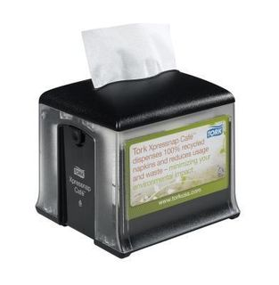 TORK N10 CLEAR / BLACK CAFE NAPKIN DISPENSER - EACH