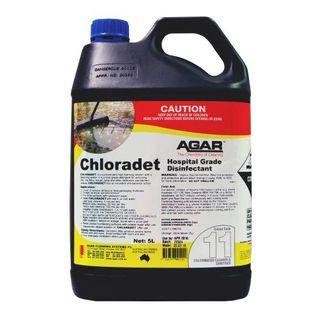 AGAR CHLORADET - CHLORINATED CLEANER & SANITISER 5L