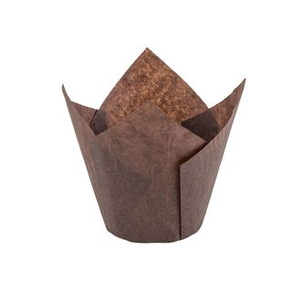 NOVACART MUFFIN WRAP BROWN (TULIP CUP) 60MM BASE (200) -SLV