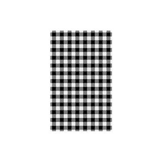 TRENTON GINGHAM BLACK G/PROOF PAPER -74203 - 190 X 310MM (1/4 CUT) - 200 - PKT