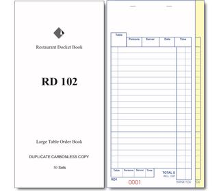 RD102  LARGE DUPLICATE DOCKET BOOK -100