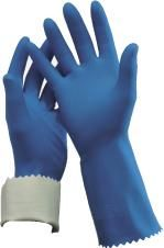 OATES DURAFRESH KITCHEN FLOCK LINED GLOVES - BLUE - SIZE 7-7 1/2 - PKT/PAIR