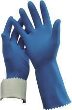 OATES DURAFRESH KITCHEN FLOCK LINED GLOVES - BLUE - SIZE 9 - 9 1/2 - PKT / PAIR
