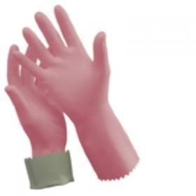 OATES DURAFRESH KITCHEN SILVER LINED GLOVES , PINK  SIZE 8 - 8 1/2 - PKT / PAIR