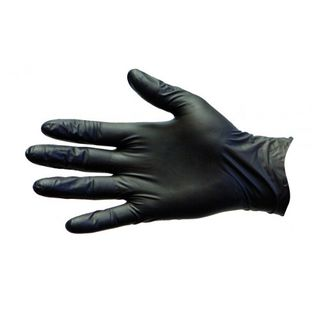 PRO-VAL NITRILE BLACK POWDER FREE GLOVES - MEDIUM - 100 - PKT