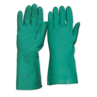 PRO CHOICE - GREEN NITRILE GLOVES SIZE 7 - MEDIUM - PAIR ONLY - PKT