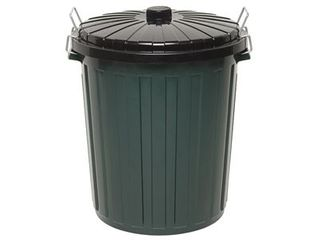 EDCO PLASTIC GARBAGE BIN & LID - GREEN - 73L -EACH