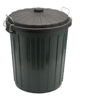 EDCO PLASTIC GARBAGE BIN & LID - GREEN - 55L -EACH