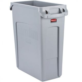 RUBBERMAID SLIM JIM WASTE CONTAINER - GREY - 60.5L - EACH