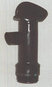 BLACK PLASTIC DRUM TAP - EACH