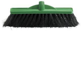 OATES 35CM HAIR FIBRE BLEND BROOM HEAD - GREEN - (B-12160 / 164751) - EACH