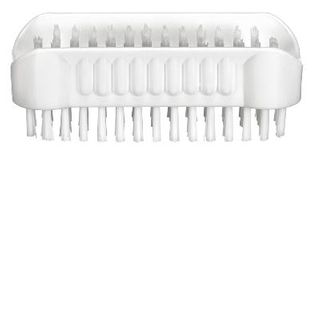 OATES NAIL BRUSH-DOUBLE SIDED - WHITE - (BM-303 /165046) -EACH