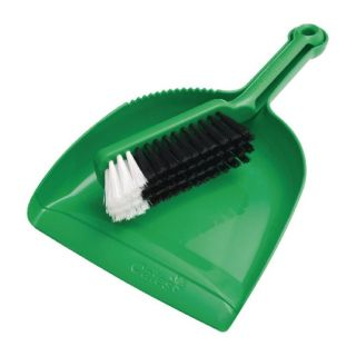 OATES DUST PAN SET - GREEN - (B-10207-G /164572) -SET