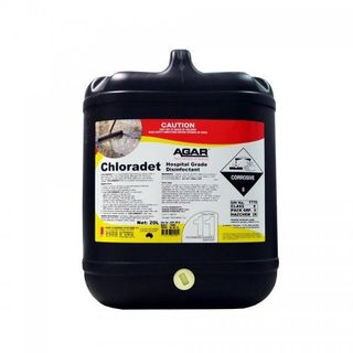 AGAR CHLORADET - CHLORINATED CLEANER & SANITISER 20L
