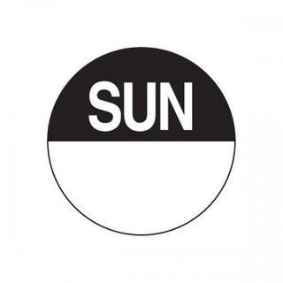 DAYDOTS - ROUND - 24MM - SUNDAY - BLACK -1000 - ROLL