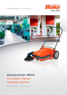 HAKO SWEEPMASTER M600 MANUAL PUSH SWEEPER - EACH