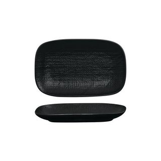 LUZERNE LINEN RECTANGULAR SHARE PLATE 265MM BLACK MATT - 12 - CTN