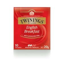TWININGS ENGLISH BREAKFAST TEA -12 X 10 PKTS - CTN