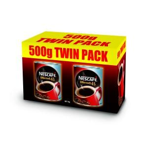 NESCAFE BLEND 43 COFFEE 2 X 500GM - TWIN PACK