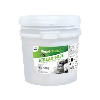 "Rapid Clean "" STREAK FREE "" Machine Dishwashing Powder - 10KG BUCKET"
