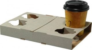 CAPRI CARDBOARD 4 CUP DRINK HOLDER / TRAY - 10 SLV