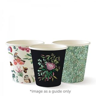 BIOPAK Single Wall CUP - 6oz (80mm) - Art Series - 1000 - CTN ( BC-6-ART )