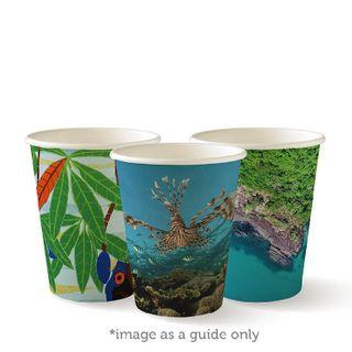 BIOPAK Double Wall CUP - 8oz (80mm) - Art Series - 1000 - ( BC-8DW-ART ) - CTN